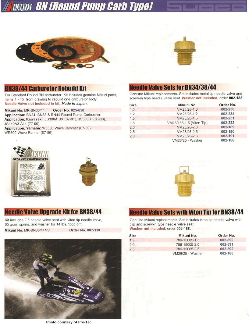 Parts Sea Doo Mikuni Parts Diagram Super Bn 44 46 Carburetor Mikuni